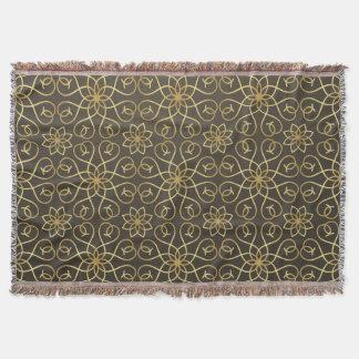 エレガントな装飾用の金パターン スローブランケット