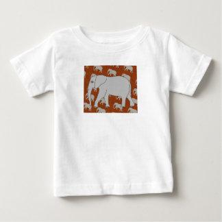 エレガントな象の乳児のTシャツ ベビーTシャツ