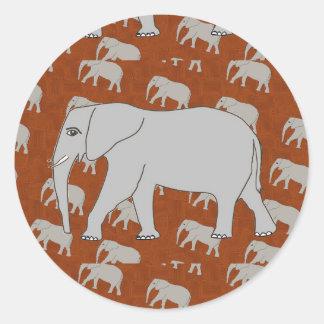 エレガントな象の円形のステッカー ラウンドシール