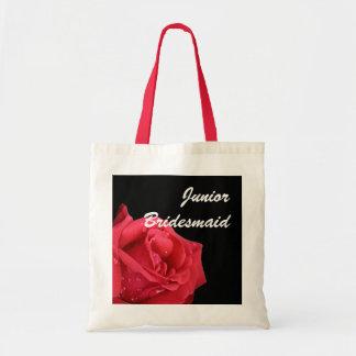エレガントな赤いバラの後輩の新婦付添人のギフトバッグ トートバッグ