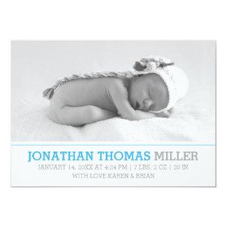 エレガントな赤ん坊の誕生の発表の写真カード 12.7 X 17.8 インビテーションカード