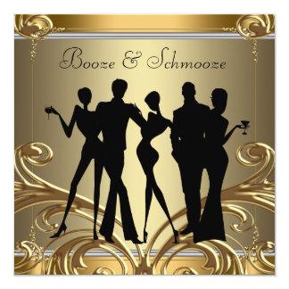 エレガントな酒宴およびSchmoozeの招待状 カード