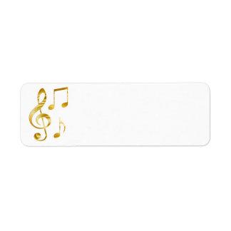エレガントな金クレフ、音符記号音楽 ラベル