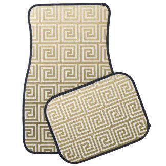 エレガントな金ゴールドおよび白いギリシャの主パターン カーマット
