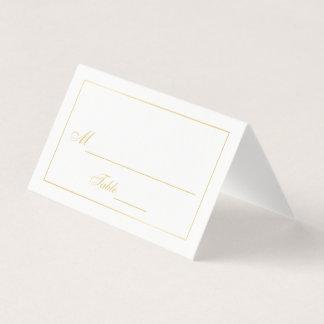 エレガントな金ゴールドおよび白い結婚式 プレイスカード