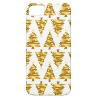 エレガントな金ゴールドのクリスマスツリーのiPhoneの場合 iPhone SE/5/5s ケース