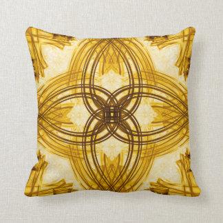エレガントな金ゴールドのダマスク織の装飾用クッション クッション