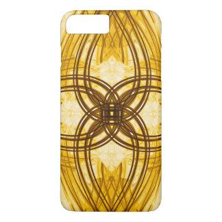 エレガントな金ゴールドのダマスク織パターンiPhone 7の場合 iPhone 8 Plus/7 Plusケース