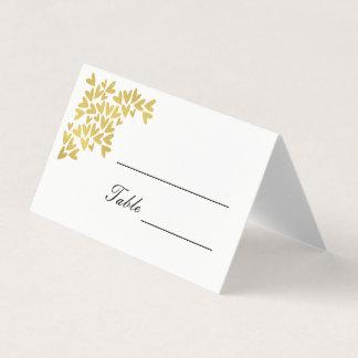 エレガントな金ゴールドのハート|の結婚の座席表 プレイスカード