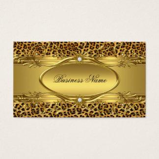 エレガントな金ゴールドのヒョウのプリントの名刺 名刺