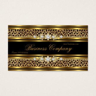 エレガントな金ゴールドのヒョウの黒の華美なベスト 名刺