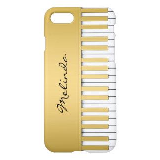 エレガントな金ゴールドのピアノキーボード音楽iPhone 7の場合 iPhone 8/7 ケース