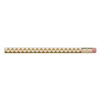 エレガントな金ゴールドの三角形パターン 鉛筆