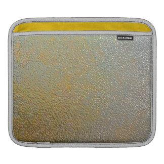エレガントな金ゴールドの銀によって押される金属の質の効果 iPadスリーブ