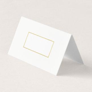 エレガントな金ゴールドフレーム|の結婚の折られた座席表 プレイスカード