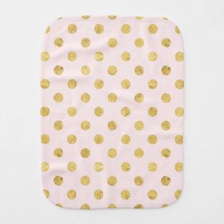 エレガントな金ゴールドホイルの水玉模様パターン-ピンク及び金ゴールド バープクロス
