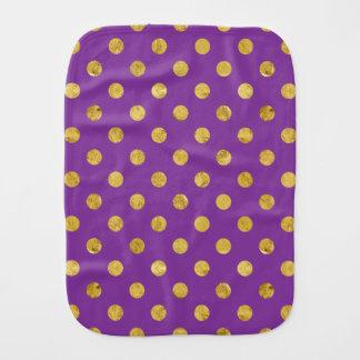 エレガントな金ゴールドホイルの水玉模様パターン-紫色 バープクロス
