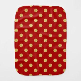 エレガントな金ゴールドホイルの水玉模様パターン-金ゴールド及び赤 バープクロス
