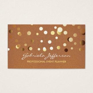 エレガントな金ゴールドホイルの紙吹雪のモダン 名刺