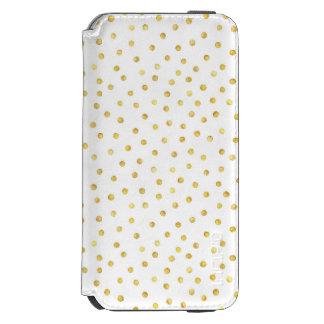 エレガントな金ゴールドホイルの紙吹雪の点 INCIPIO WATSON™ iPhone 6 ウォレットケース