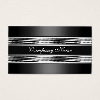 エレガントな銀製のクロム金属の黒3 名刺