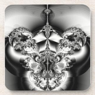 エレガントな銀製のシャンデリア コースター