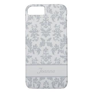 エレガントな銀製のダマスク織によってカスタマイズiPhone 7の場合 iPhone 8/7ケース