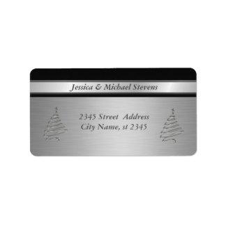 エレガントな銀製の粋な休日のクリスマスツリー ラベル