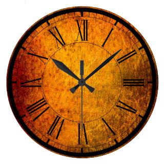 エレガントな錆の質の柱時計 ラージ壁時計