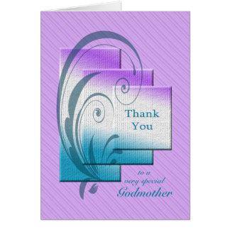 エレガントな長方形の教母、ありがとう カード