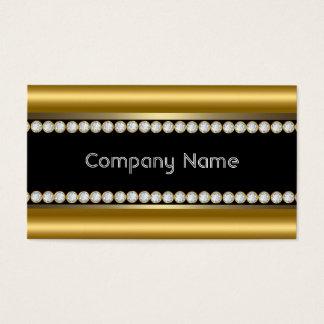 エレガントな青銅色の金ゴールドの黒ダイヤのトリム 名刺