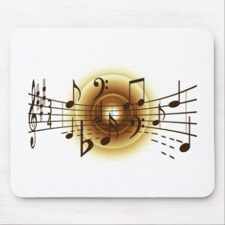 エレガントな音符 マウスパッド