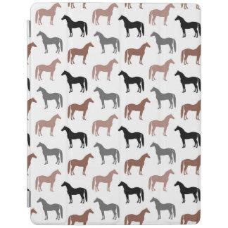 エレガントな馬ブラウン、黒いおよび灰色パターン iPadスマートカバー