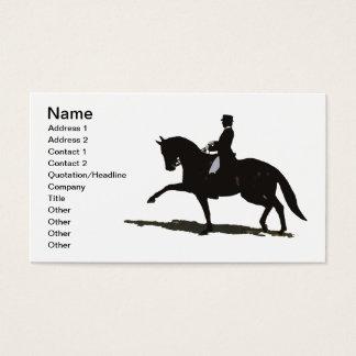 エレガントな馬場馬術の馬の名刺 名刺