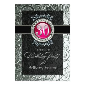 エレガントな魅力のエンボスの第30誕生日 カード