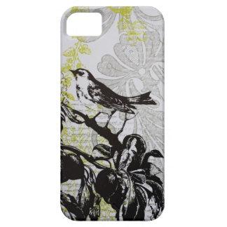 エレガントな鳥のヴィンテージのファッションの花iphone5場合 iPhone SE/5/5s ケース