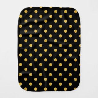 エレガントな黒および金ゴールドホイルの水玉模様パターン バープクロス