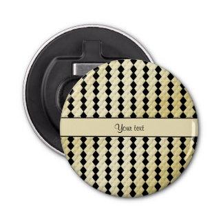 エレガントな黒く及び模造のな金ゴールドの対称のダイヤモンド 栓抜き