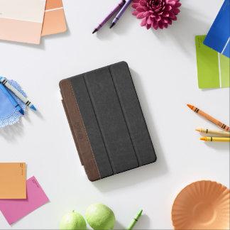 エレガントな黒及びブラウンによってステッチされる革 iPad MINIカバー