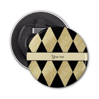 エレガントな黒及び金ゴールドのダイヤモンド 栓抜き