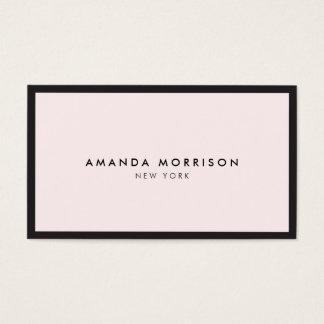 エレガントな、精製された贅沢なブティックの黒かピンク 名刺