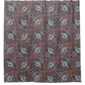 エレガントなMarsalaおよび水のペイズリーの花柄パターン シャワーカーテン