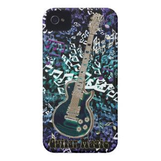エレキギターが付いているギターの魔法の~の無秩序のノート Case-Mate iPhone 4 ケース