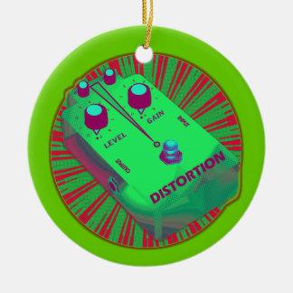 エレキギターのゆがみのペダルの緑の赤 セラミックオーナメント