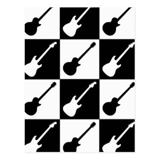 エレキギターのチェッカーボード ポストカード