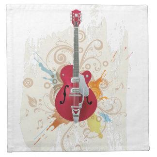エレキギターのデザイン ナプキンクロス