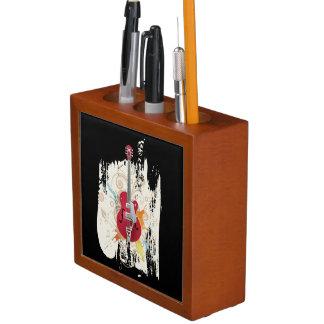 エレキギターのデザイン ペンスタンド