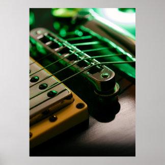 エレキギターのマクロ ポスター