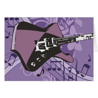 エレキギターのメッセージカード カード