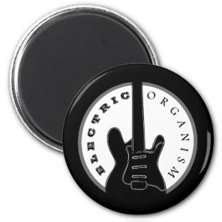 エレキギターのロック・ミュージックのカッコいいの白黒のモダン マグネット